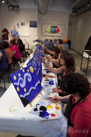 """""""Starry Night"""" —Painting Class at Brush Studio"""