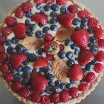 Passion Fruit Tart with Fresh Berries.